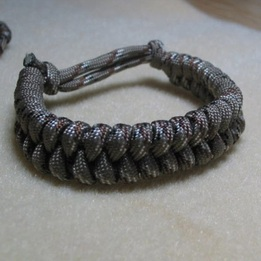 Paracord Adjustable Bracelet Desert Camo - www.NirvanaCreationsUSA.com