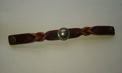 Leather Bracelet Twisted with Lacing - www.NirvanaCreationsUSA.com