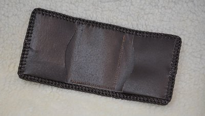 Tri Fold Leather Wallet Brown - www.NirvanaCreationsUSA.com
